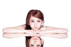 Skincare beauty woman Stock Photography