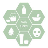 Skincare begrepp Fotografering för Bildbyråer