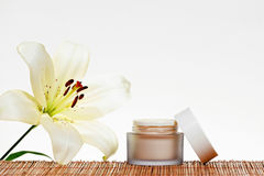 Skincare cream. Isolated on white background Royalty Free Stock Photography