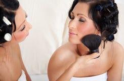 Skincare da escova Imagem de Stock Royalty Free