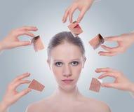 Skincare de concept. Photos libres de droits
