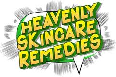 Skincare divino remedia - palabras del estilo del cómic ilustración del vector