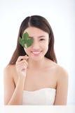 Skincare e cosmetici organici Fotografie Stock