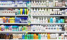 Skincare e prodotti cosmetici fotografia stock libera da diritti