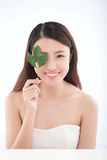 Skincare en organische schoonheidsmiddelen Stock Foto's