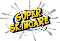 Skincare estupendo - palabras del estilo del cómic ilustración del vector
