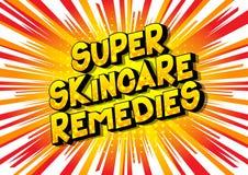 Skincare estupendo remedia - palabras del estilo del cómic stock de ilustración
