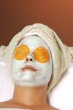 Skincare Gesichtsbehandlung-Schablone Lizenzfreie Stockfotos