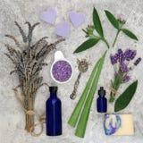 Skincare ingredienser för hudoordningar Arkivfoto