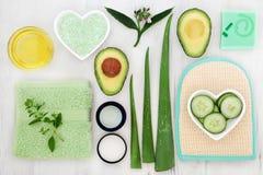 Skincare ingrediensval Arkivfoton