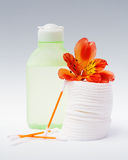 Skincare items Royalty Free Stock Photo