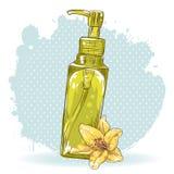 Skincare make-up bottle isolated card Royalty Free Stock Photography