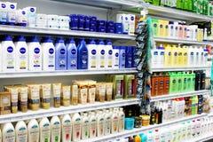 Skincare och kosmetiska produkter Arkivfoton