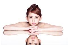 Skincare piękna kobieta Obrazy Stock