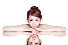 Skincare piękna kobieta Fotografia Royalty Free