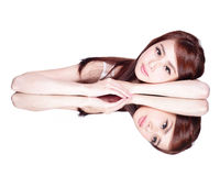 Skincare piękna kobieta Zdjęcia Royalty Free