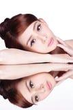 Skincare piękna kobieta Obrazy Royalty Free