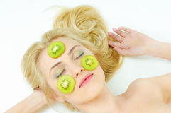 Skincare procedure Stock Images