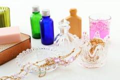 Skincare produkter Fotografering för Bildbyråer