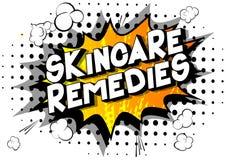 Skincare remedia - palabras del estilo del cómic stock de ilustración