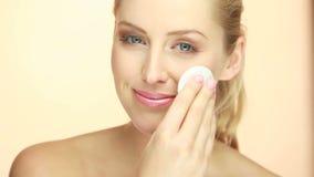 Skincare renlighet och hygien stock video