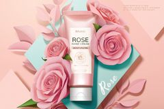Free Skincare Rose Hand Cream Ads Royalty Free Stock Photo - 138091685