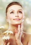 Skincare. Schönheit mit Kräutern Lizenzfreies Stockfoto