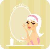 Skincare serie-Idrata illustrazione di stock