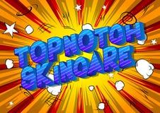 Skincare Topnotch - palavras do estilo da banda desenhada ilustração royalty free
