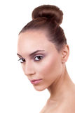 Skincare Woman Hair Bun Royalty Free Stock Photos