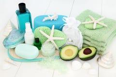 Skincare y tratamiento de la belleza del cuidado del cuerpo Foto de archivo libre de regalías