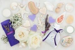 Skincare y tratamiento del balneario Imágenes de archivo libres de regalías