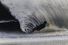 Αρσενική σκιαγραφία Sking ύδατος Στοκ Εικόνες