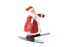 Sking Santa Figure Stock Images