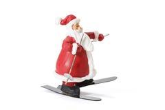Sking Santa Figure Stock Images