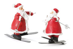 Sking Santa Figures Stock Images