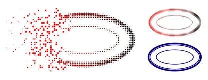 Skingrad Dot Halftone Double Ellipse Frame symbol royaltyfri illustrationer