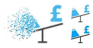 Skingrad symbol för gunga för pris för Pixelated rastrerad marknadspund stock illustrationer