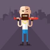 Skinhead character Stock Image