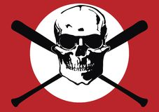 Skinhead's terror. The fantasy skinhead's terror flag Royalty Free Stock Images
