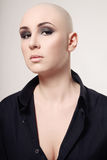 Skinhead woman Stock Photos