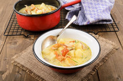 Skink de Cullen, comida escocesa típica con los abadejos ahumados Fotografía de archivo