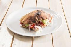Skinka- och grönsaksmörgås Royaltyfri Bild