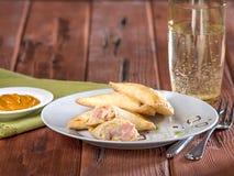 Skinka- och ostempanadas, Empanadas Mixtas Fotografering för Bildbyråer