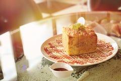 Skinka- och ostrostat bröd Royaltyfria Foton