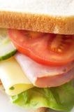 Skinka och ostsmörgås Royaltyfri Bild