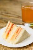 Skinka och ostsmörgås Fotografering för Bildbyråer