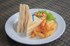 Skinka & ostsmörgås Arkivfoto