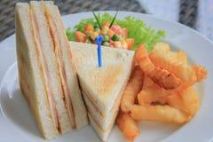 Skinka & ostsmörgås Arkivfoton