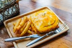 Skinka & ostsmörgås Fotografering för Bildbyråer